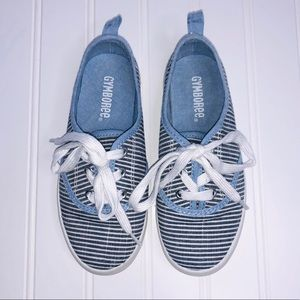 GYMBOREE Girls classic striped canva sneakers.